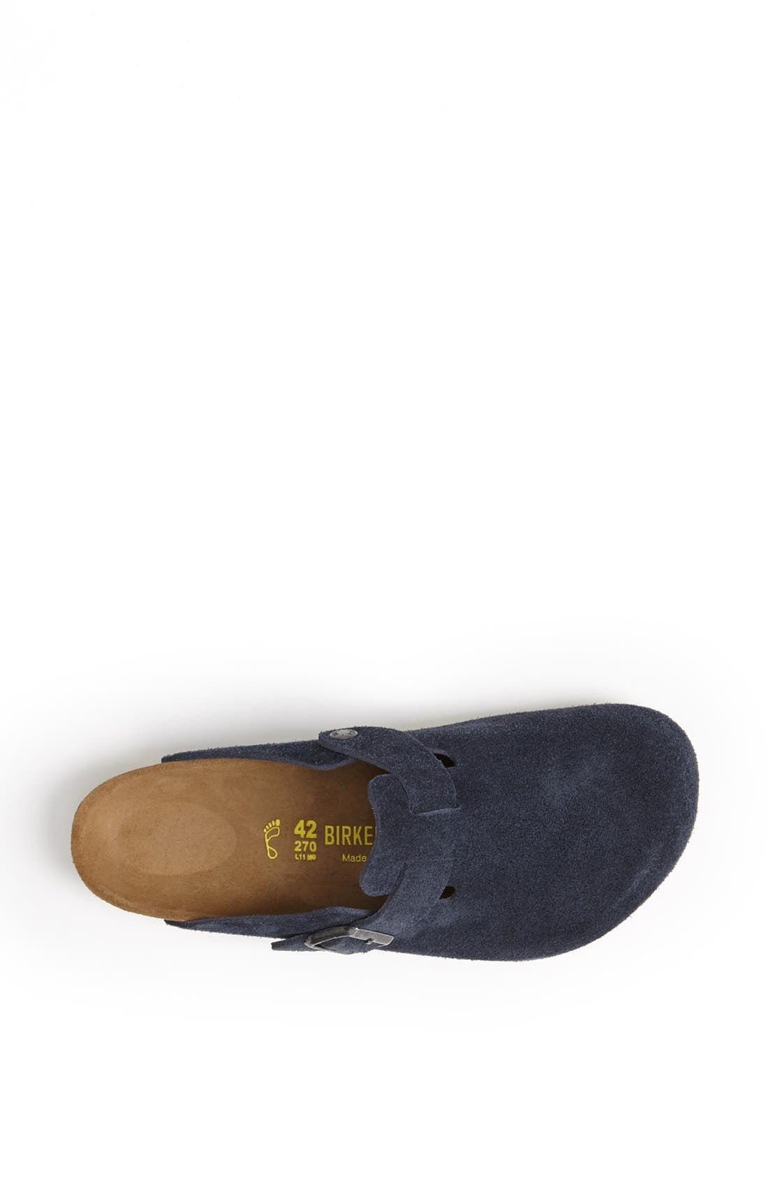 Alternate Image 3  - Birkenstock 'Boston Soft' Suede Clog (Men)