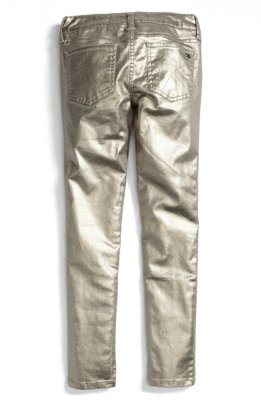 Alternate Image 1 Selected - Joe's Foil Skinny Jeans (Big Girls)