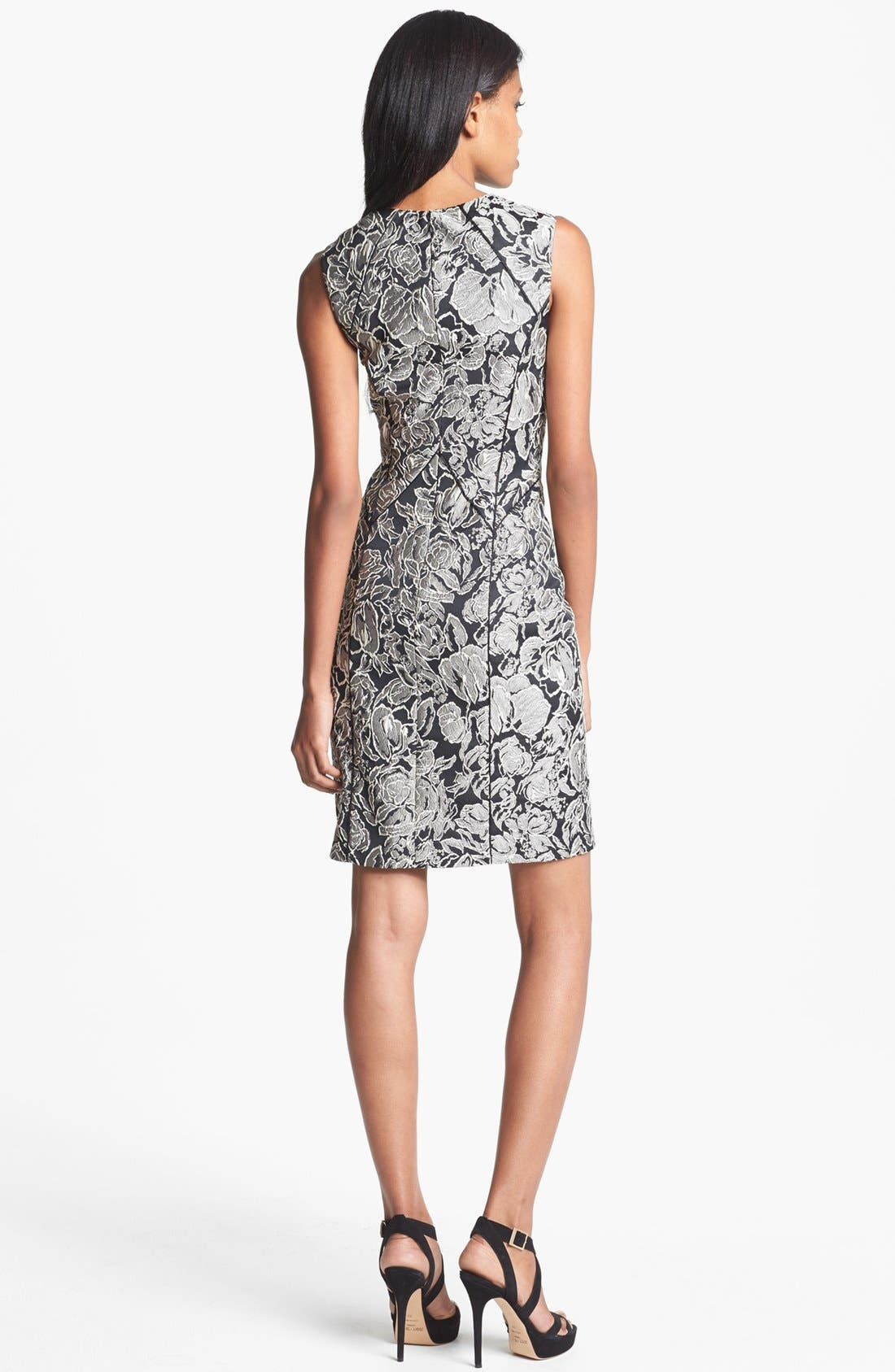Alternate Image 2  - Aidan Mattox Textured Floral Sheath Dress