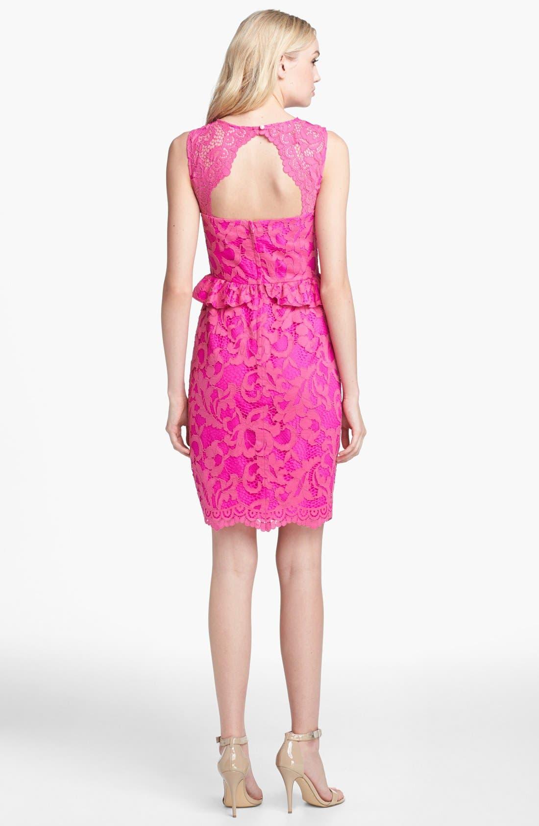 Alternate Image 2  - Lilly Pulitzer® 'Kiri' Lace Peplum Dress