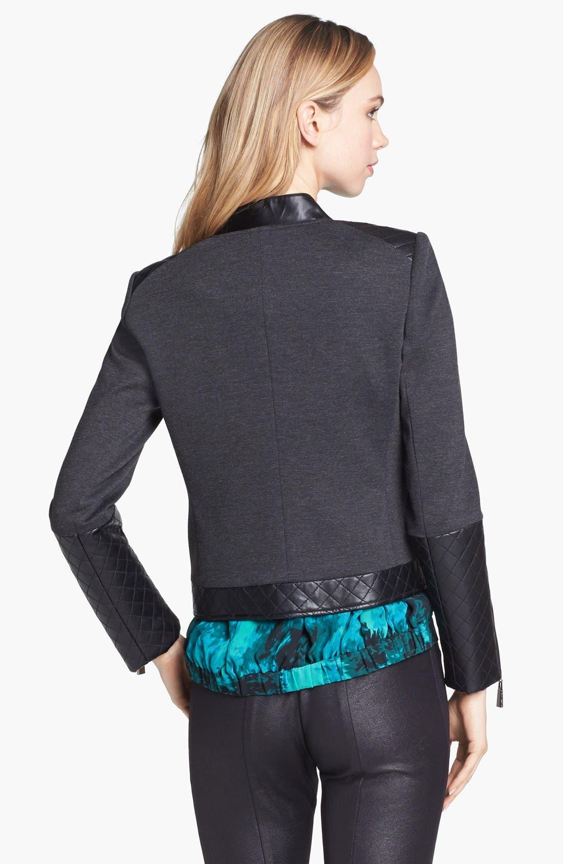 Alternate Image 4  - Vince Camuto Faux Leather Trim Jacket