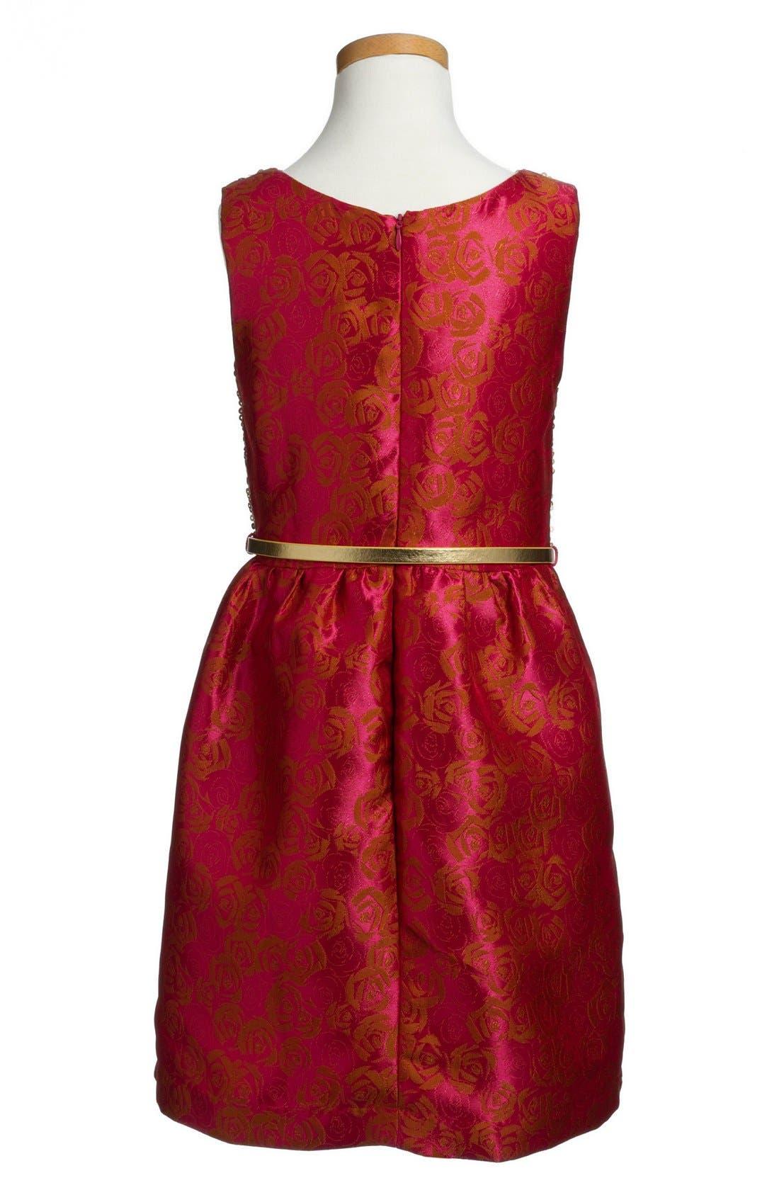 Alternate Image 2  - BLUSH by Us Angels Sequin & Brocade Dress (Big Girls)