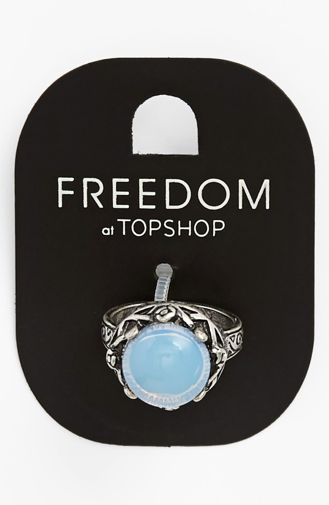 Alternate Image 1 Selected - Topshop Round Ring