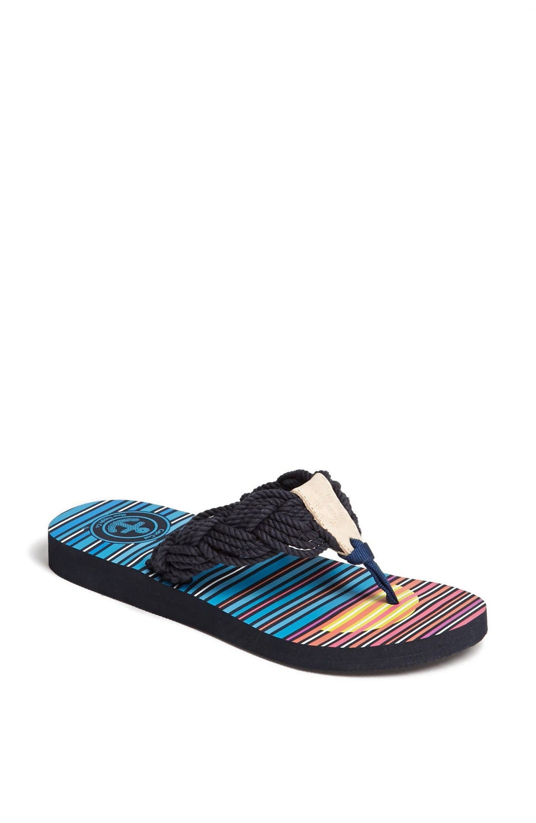 Alternate Image 1 Selected - Cape Cod Shoe Supply Co. 'Mainsail' Flip Flop