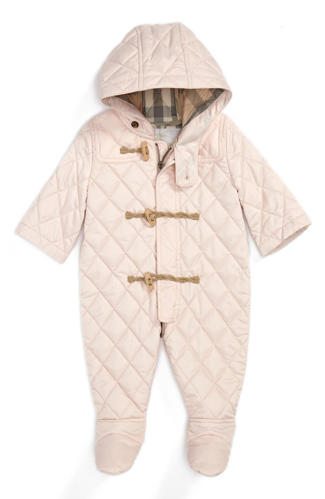 Alternate Image 1 Selected - Burberry Snowsuit (Baby Girls)