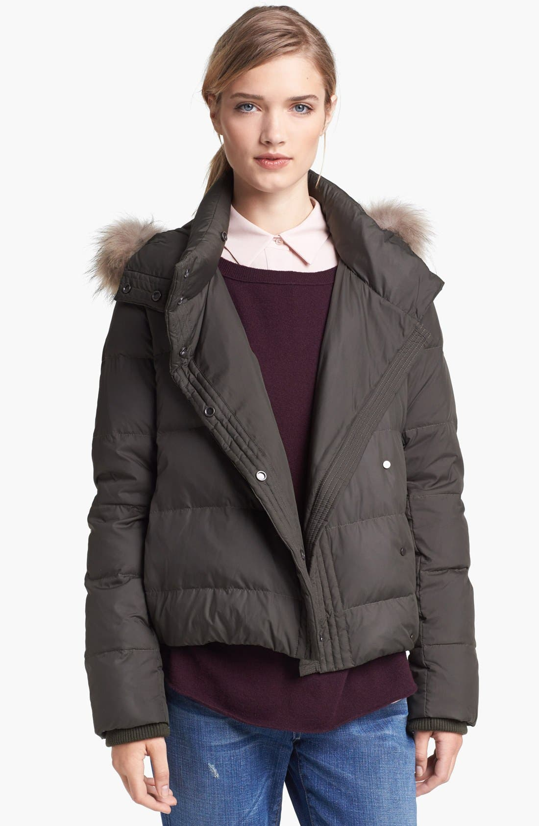 Main Image - Vince Genuine Raccoon Fur Trim Puffer Jacket