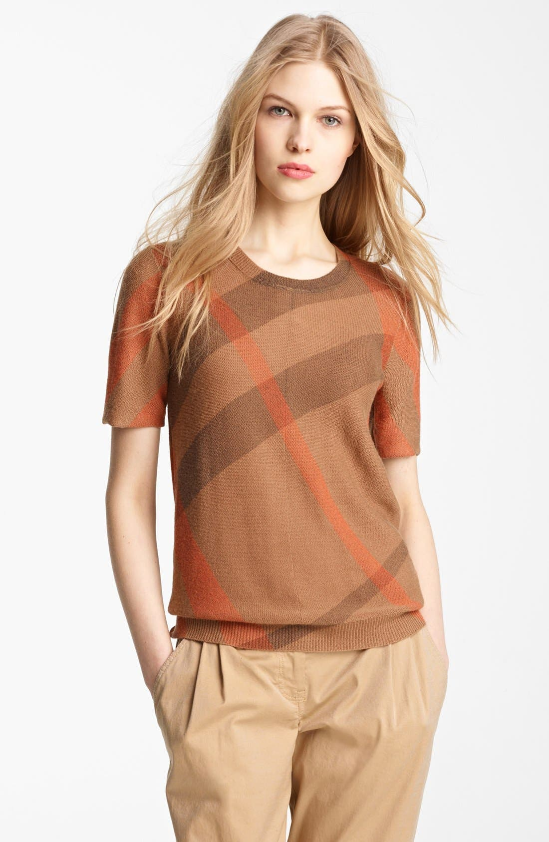 Alternate Image 1 Selected - Burberry Brit Reversible Short Sleeve Sweater