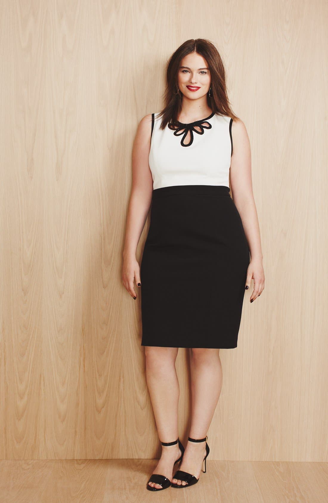 Alternate Image 5  - Adrianna Papell Embellished Crepe Sheath Dress (Plus Size)