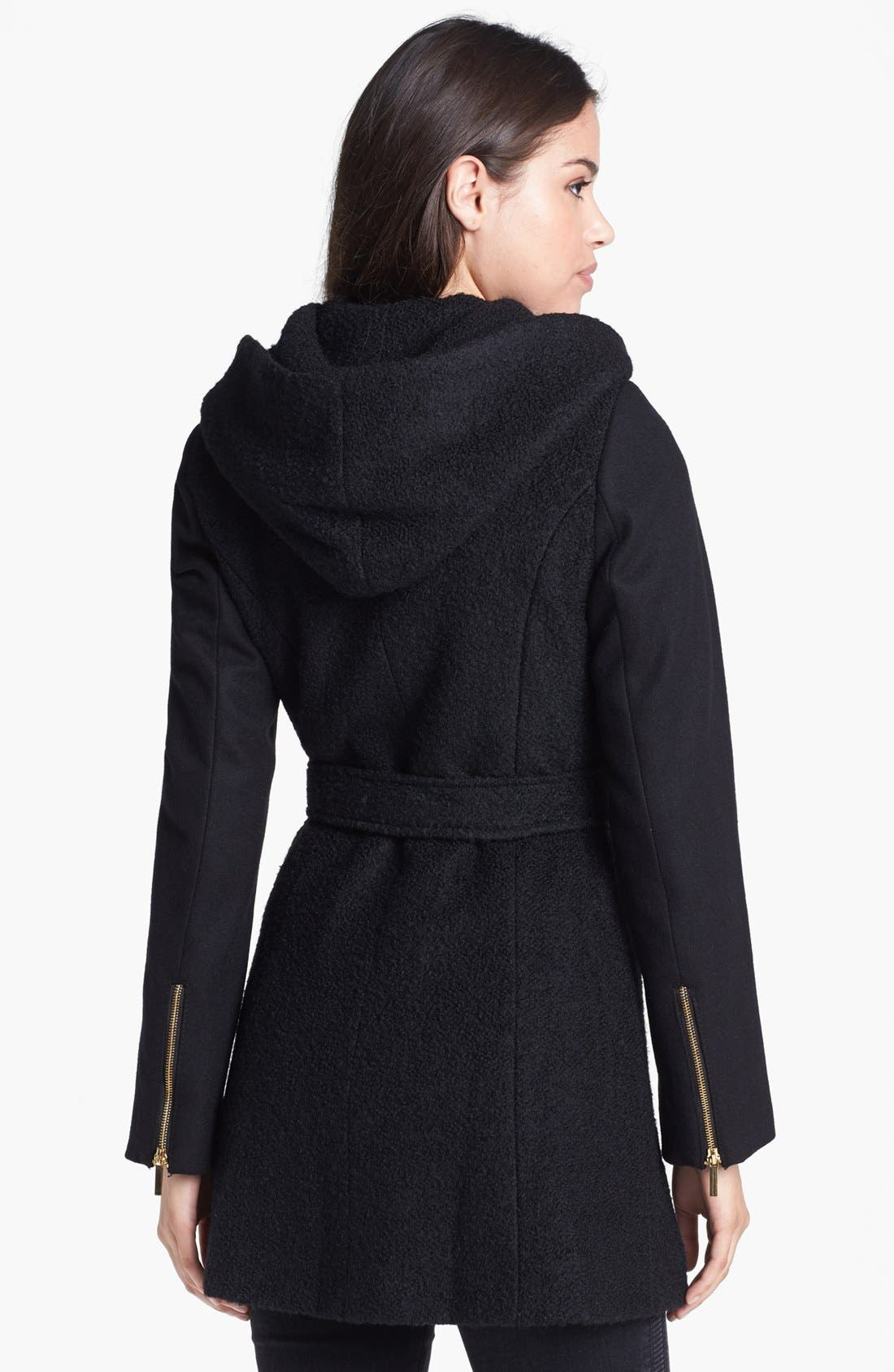 Alternate Image 3  - Laundry by Shelli Segal Belted Mixed Wool Blend Jacket