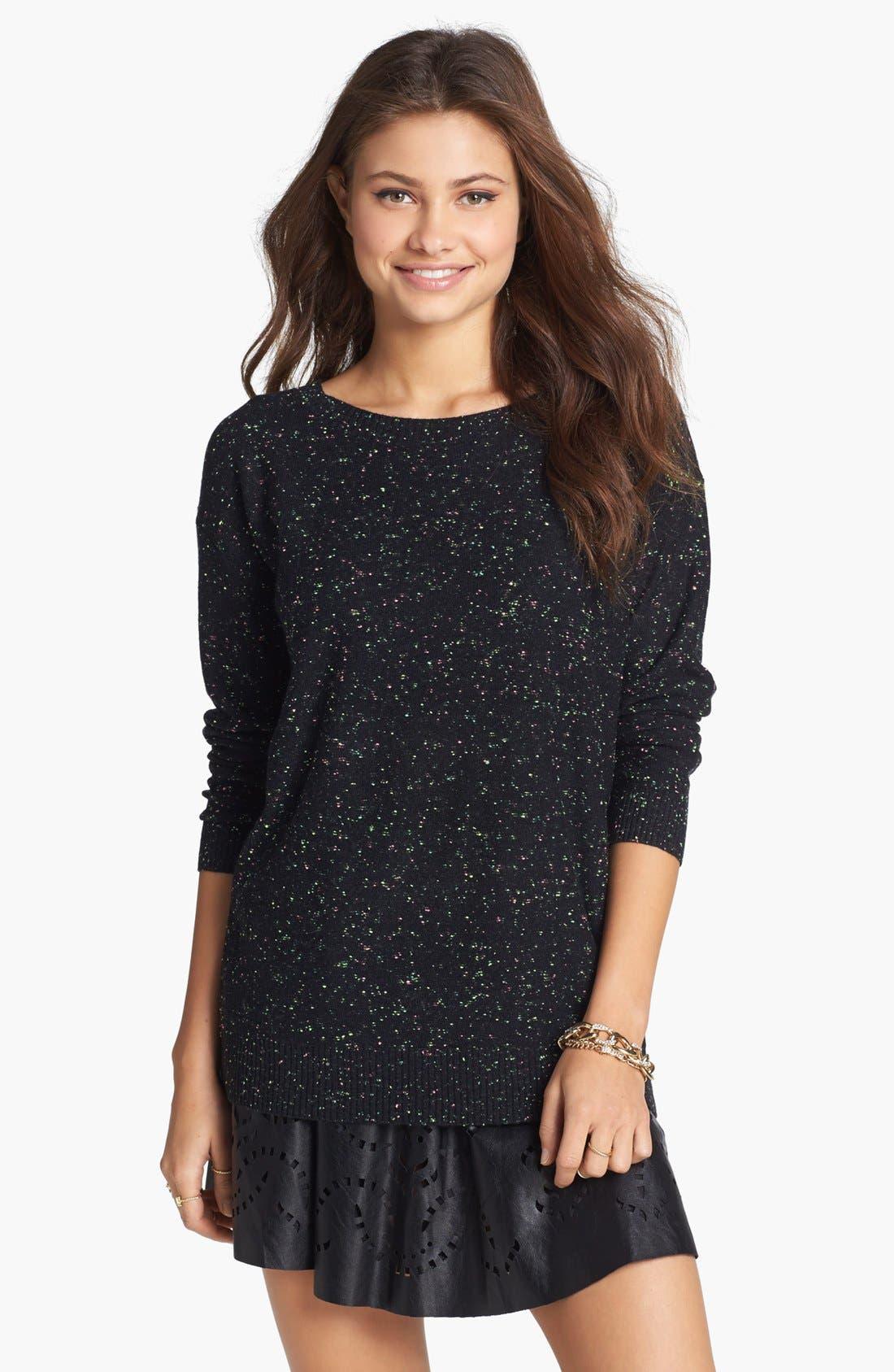 Alternate Image 1 Selected - Rubbish® Flecked Sweater (Juniors)