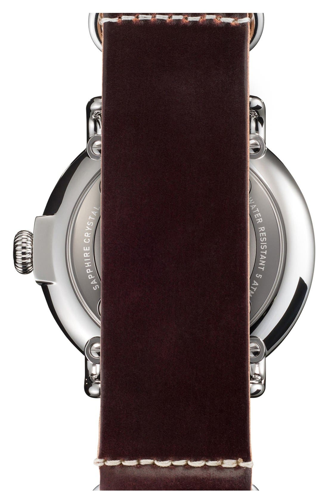 Alternate Image 3  - Shinola 'The Runwell' Leather Strap Watch, 47mm