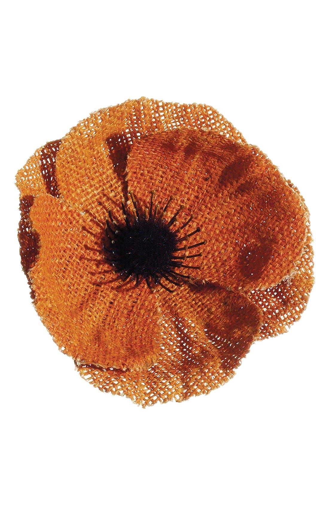 Alternate Image 1 Selected - ALLSTATE 'Poppy' Burlap Napkin Ring