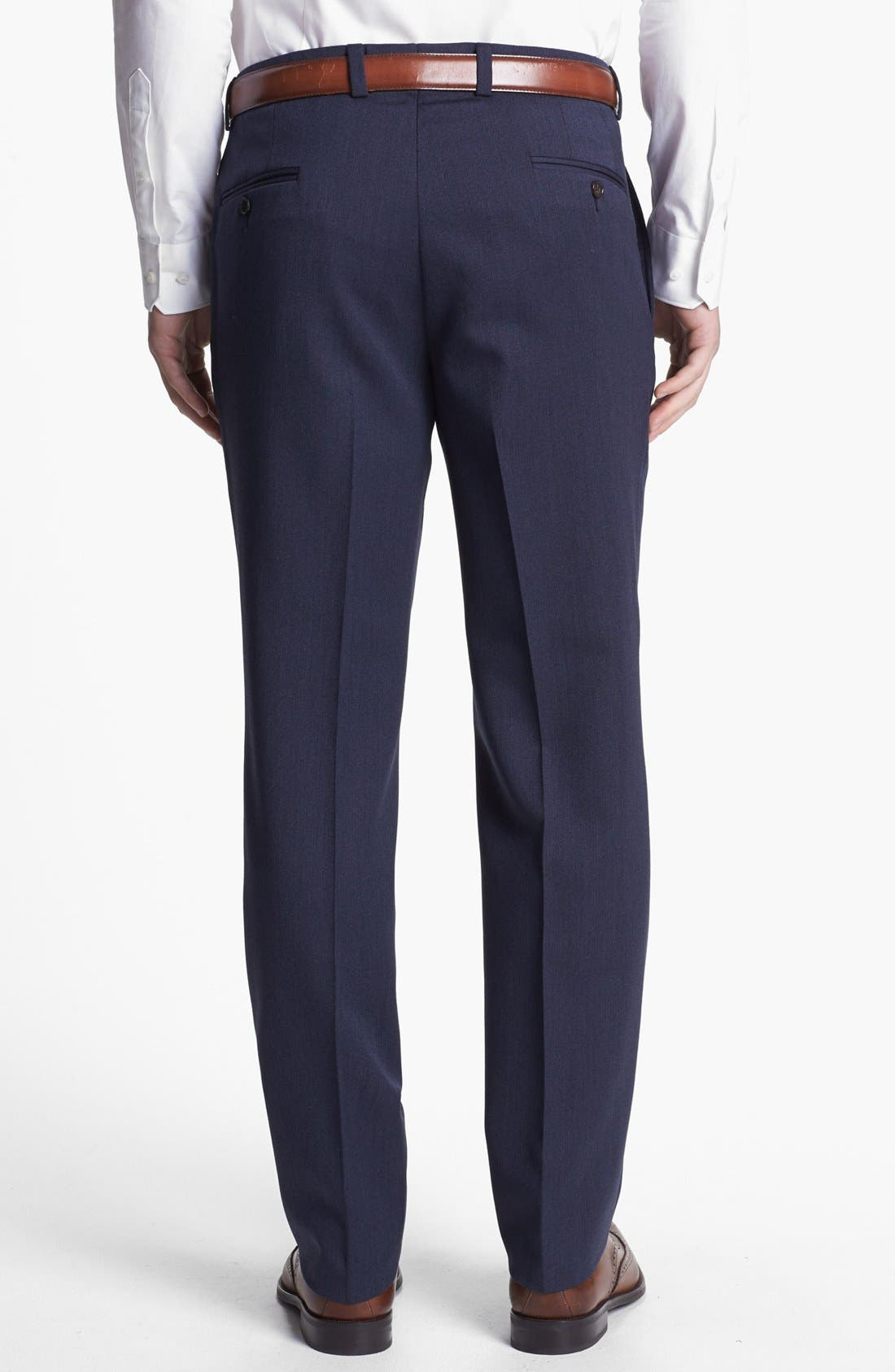Alternate Image 2  - Ted Baker London Flat Front Tricotine Trousers