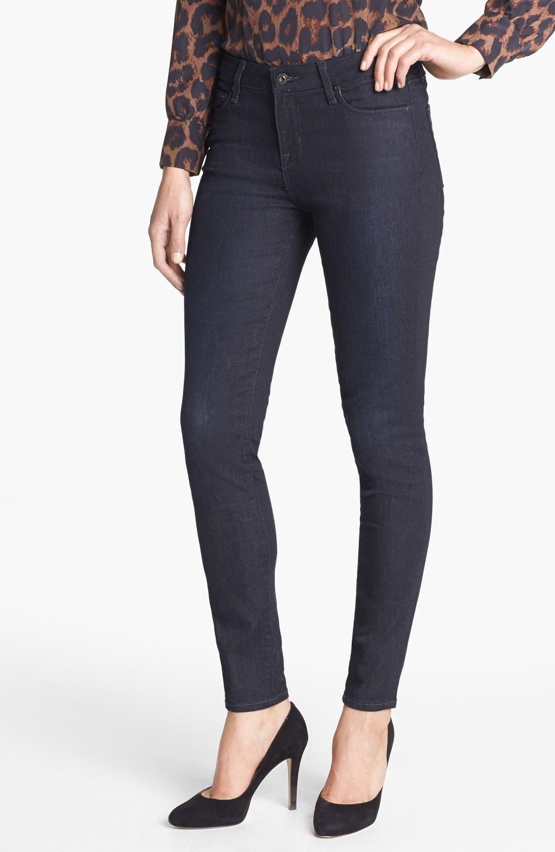 Main Image - Big Star 'Alex' Stretch Skinny Jeans (Avignon) (Petite)
