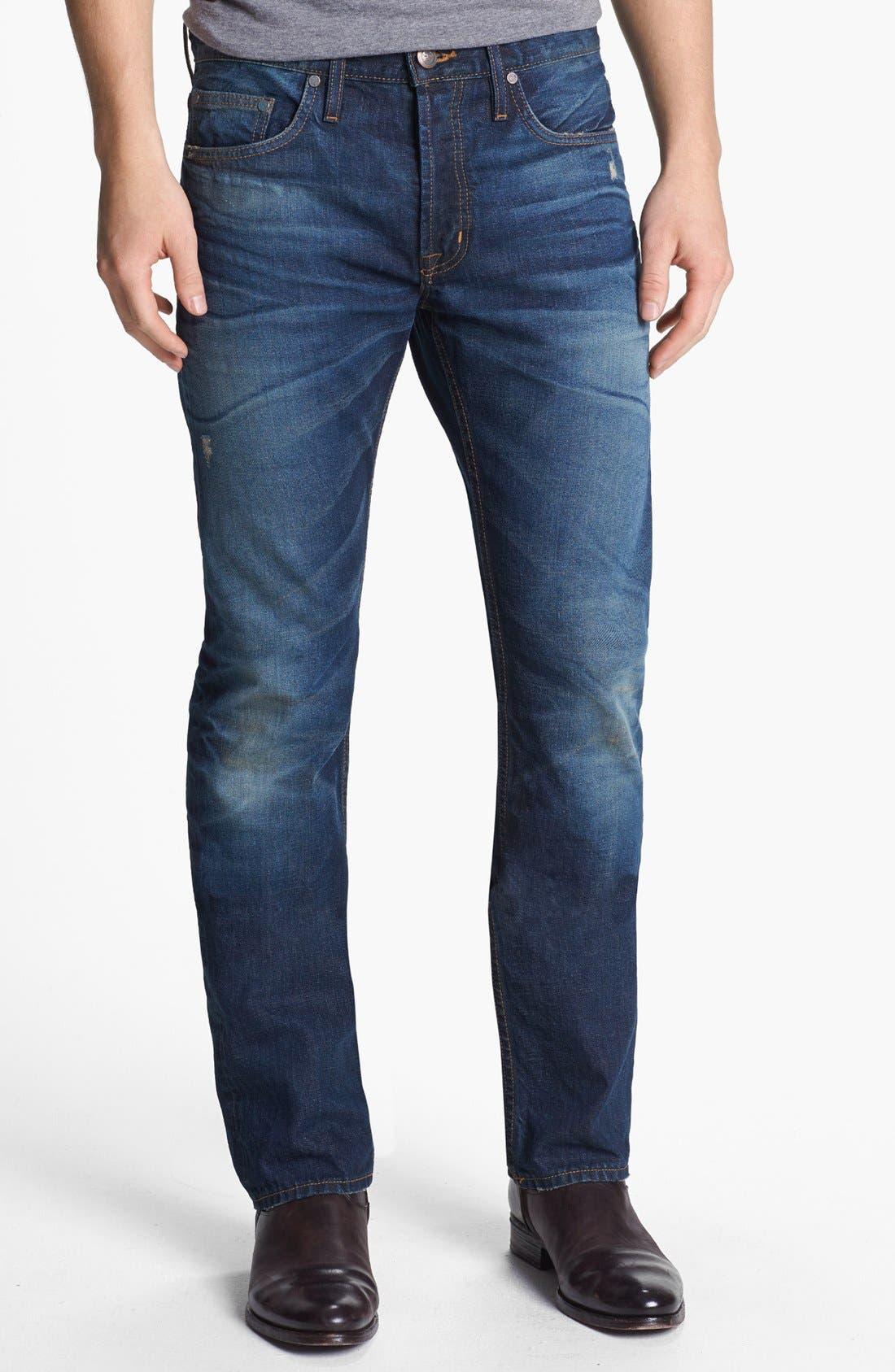 Main Image - Asbury Park '1874 Monte Carlo' Straight Leg Selvedge Jeans (Ocean Grove)