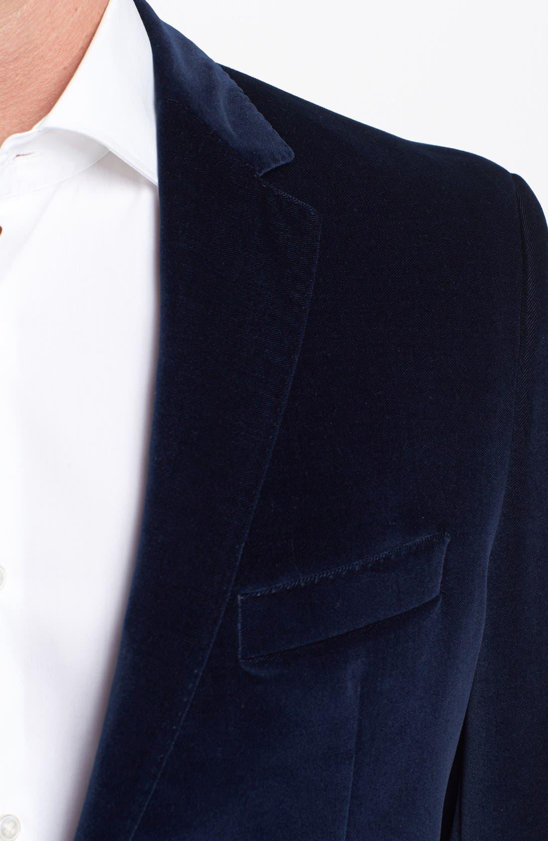 Alternate Image 2  - BOSS HUGO BOSS 'The Keys' Trim Fit Velvet Blazer