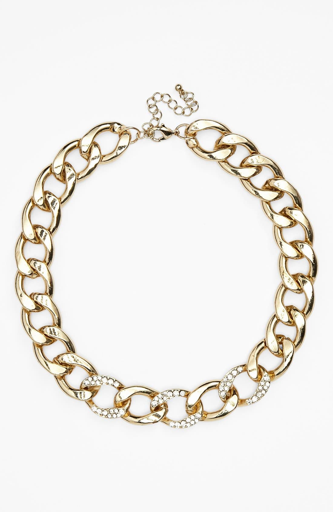Alternate Image 1 Selected - Stephan & Co. Rhinestone Chain Necklace (Juniors) (Online Only)
