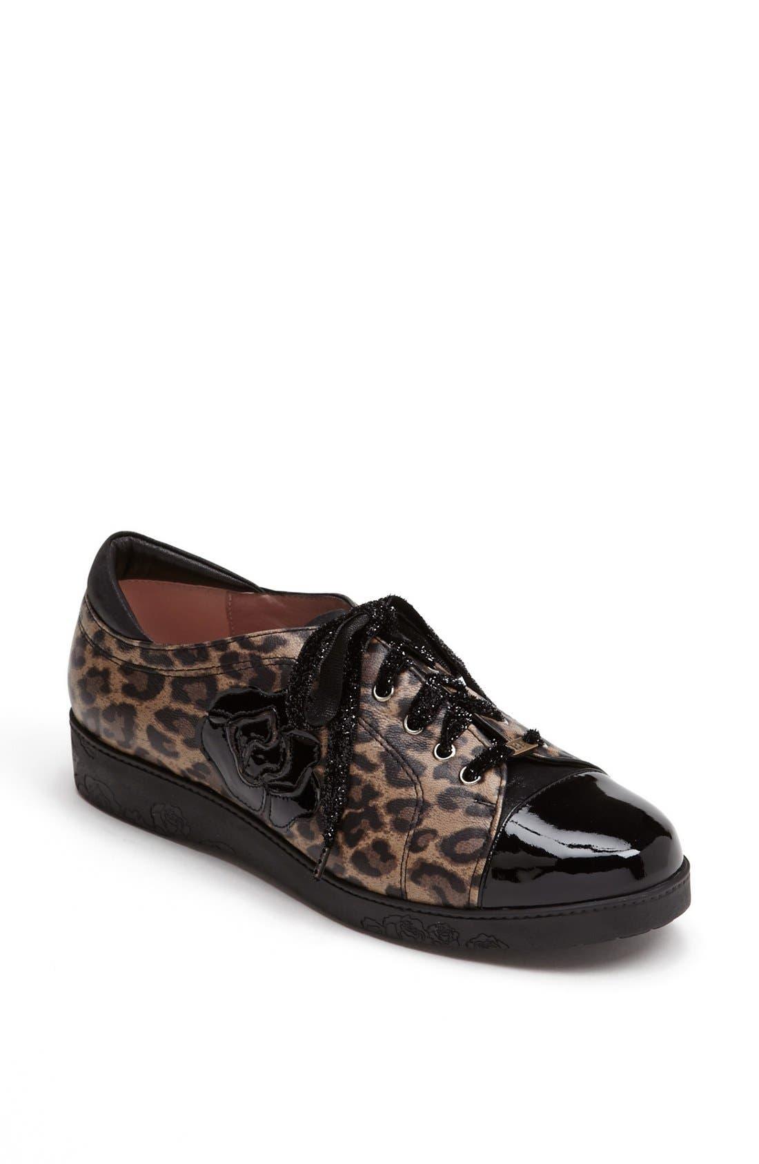 'Aria' Sneaker,                             Main thumbnail 1, color,                             Leopard Print Leather