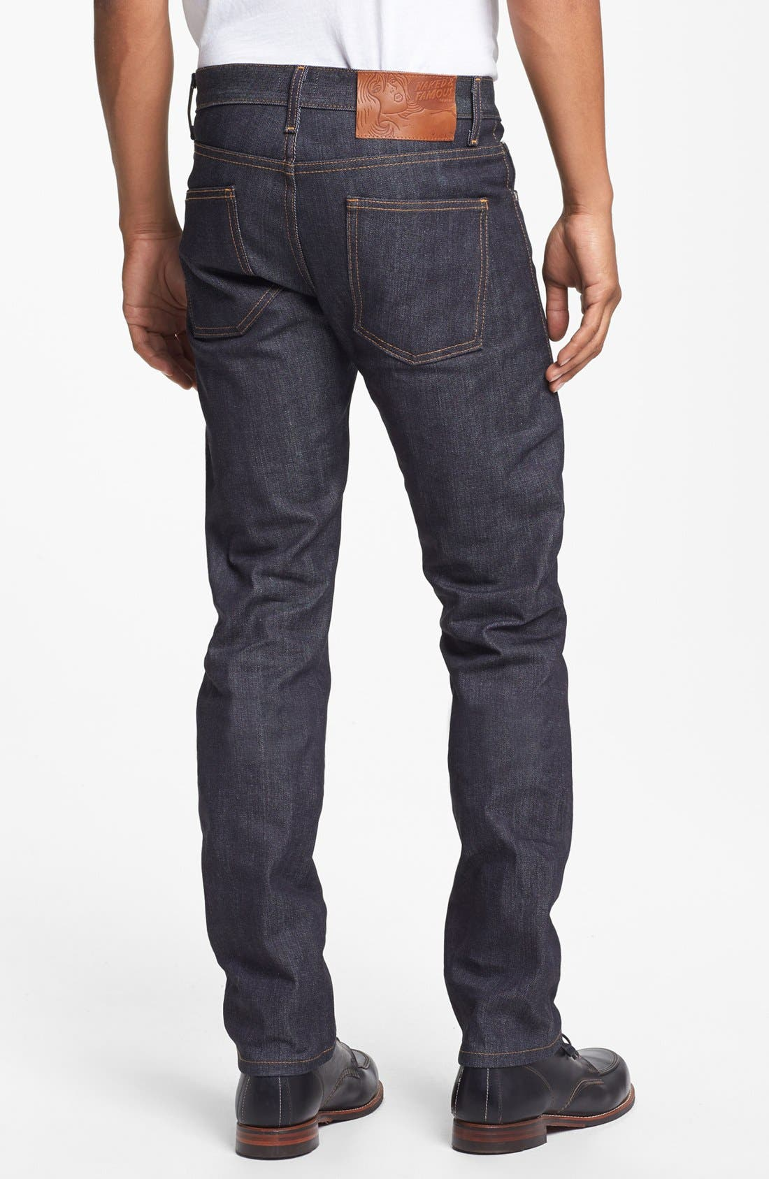 Alternate Image 2  - Naked & Famous Denim Super Skinny Guy Skinny Fit Raw Selvedge Jeans (Left Hand Twill Selvedge)