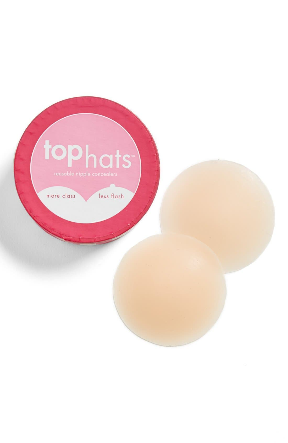 'Top Hats' Nipple Concealers,                             Main thumbnail 1, color,                             Nude