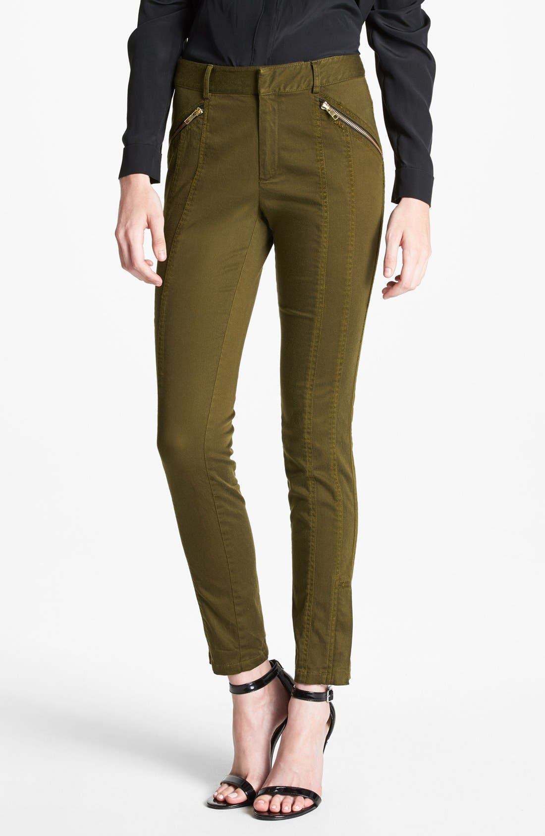 Alternate Image 1 Selected - Nanette Lepore 'Orbit' Seamed Skinny Pants