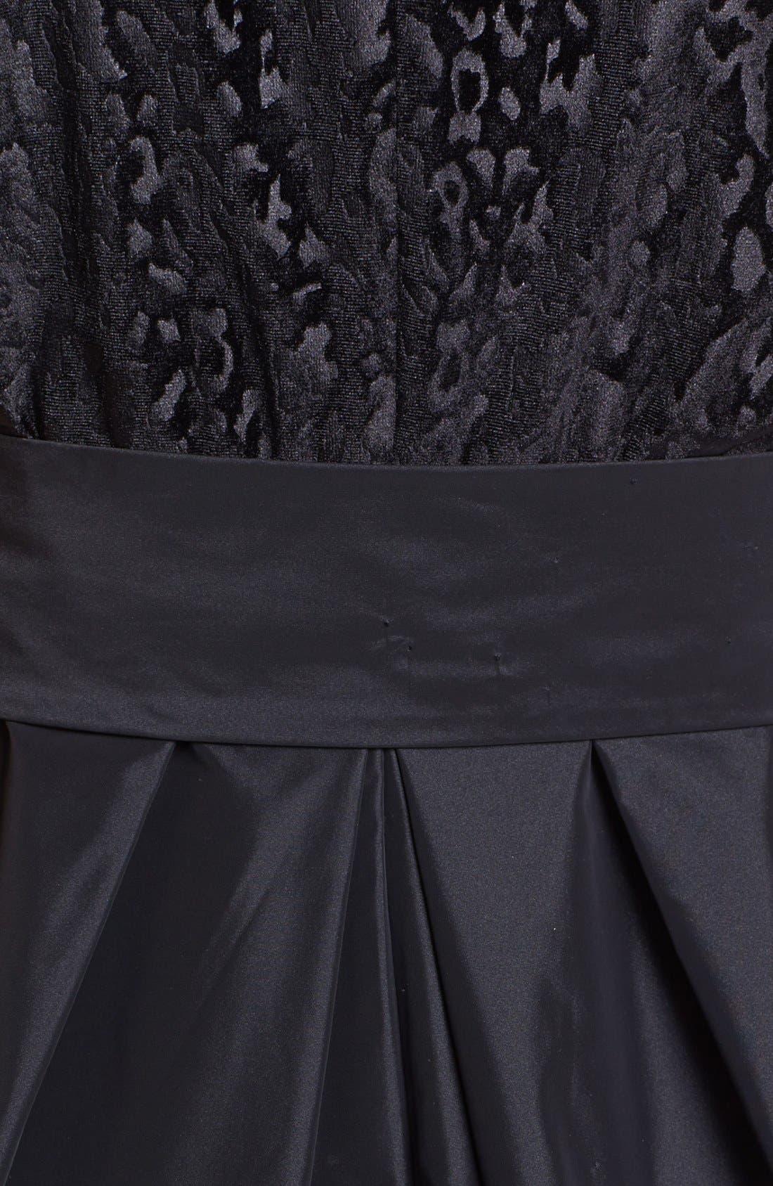 Alternate Image 3  - Ivy & Blu Mixed Media Fit & Flare Dress