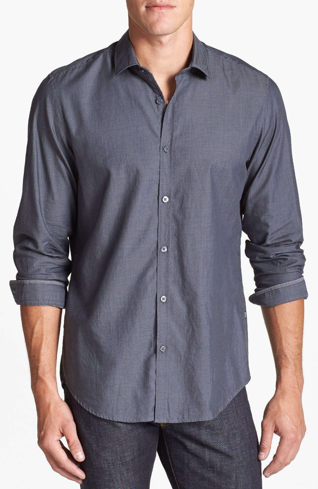 Alternate Image 1 Selected - BOSS HUGO BOSS 'Lorenzo' Regular Fit Chambray Sport Shirt