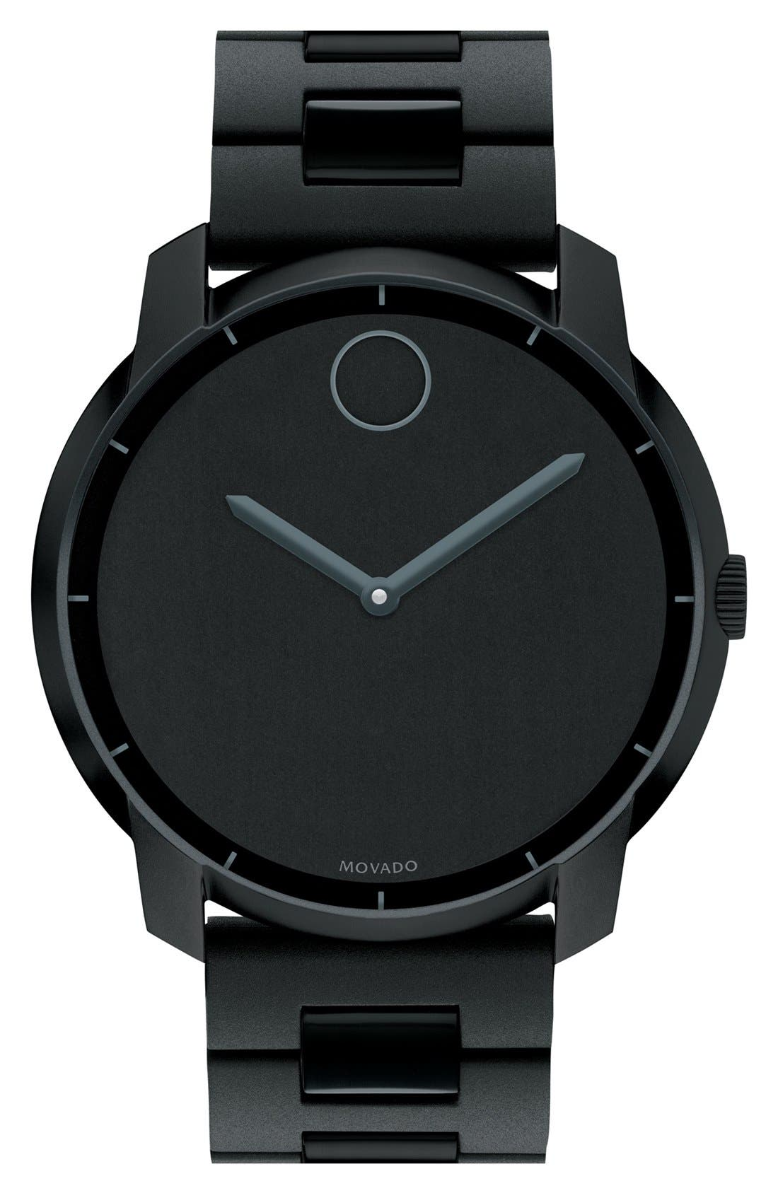 Main Image - Movado 'Bold' Silicone Bracelet Watch, 44mm