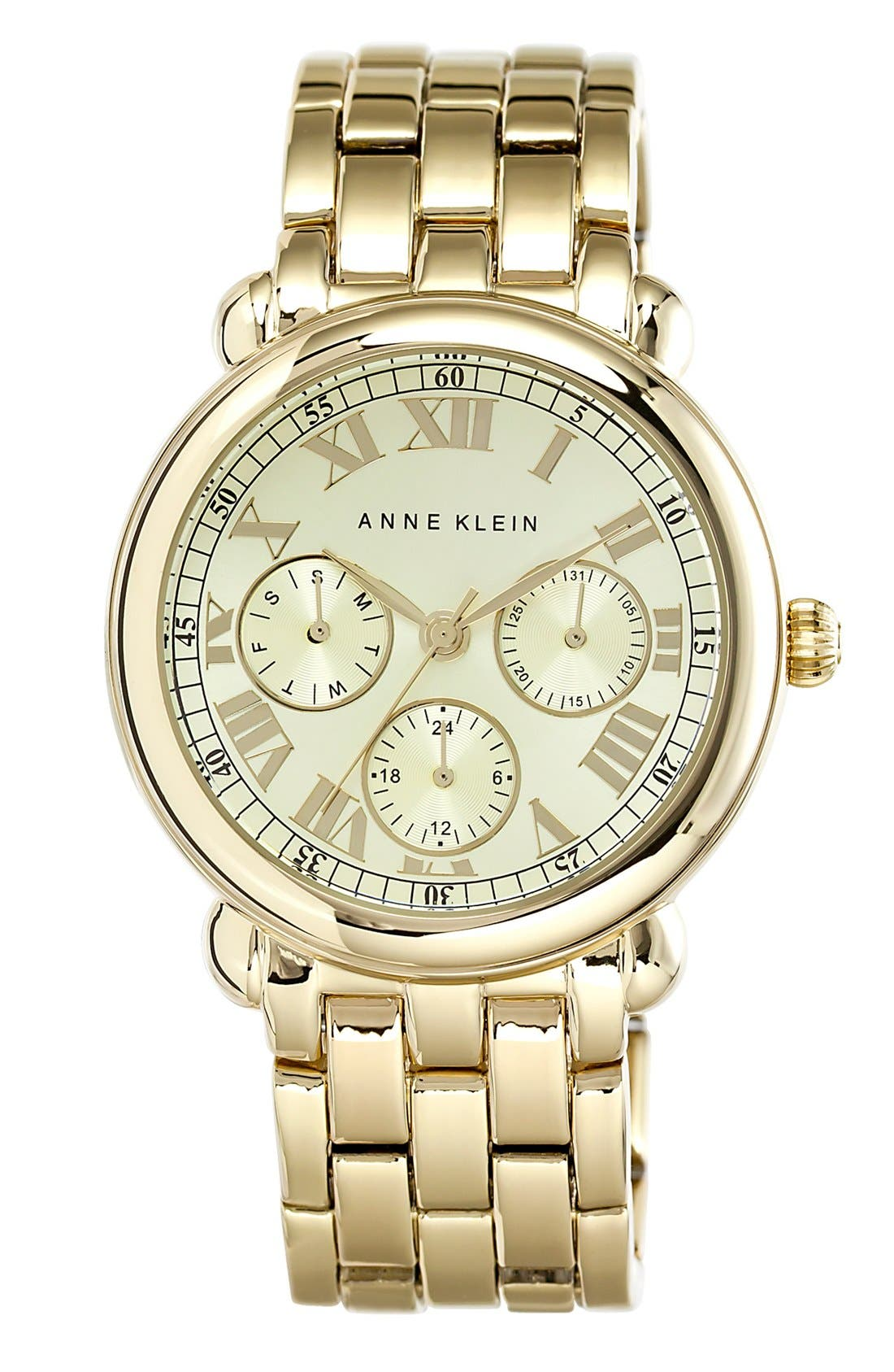 Alternate Image 1 Selected - Anne Klein Multifunction Bracelet Watch, 38mm