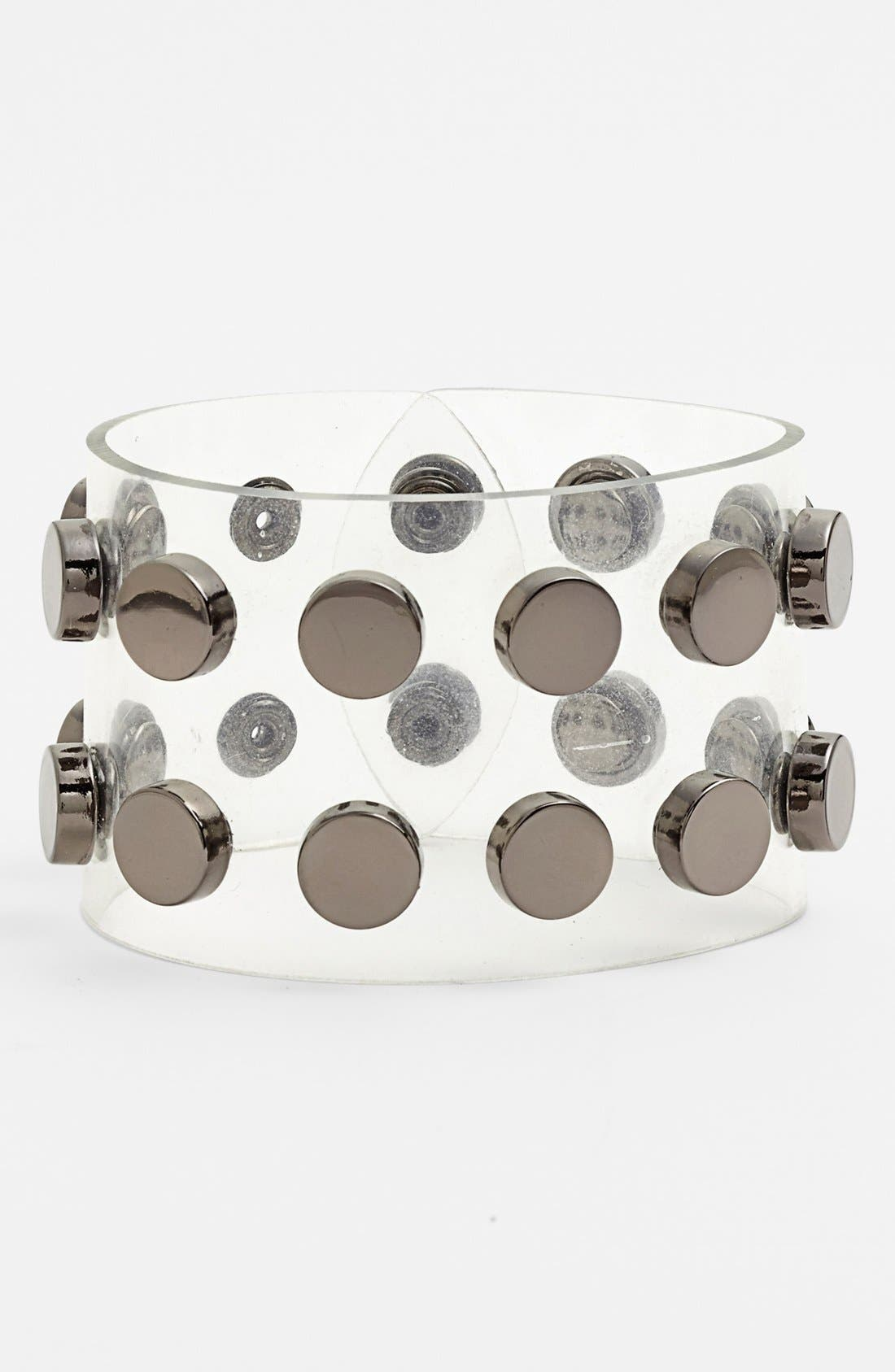 Alternate Image 1 Selected - Cara Couture Studded Clear Bracelet
