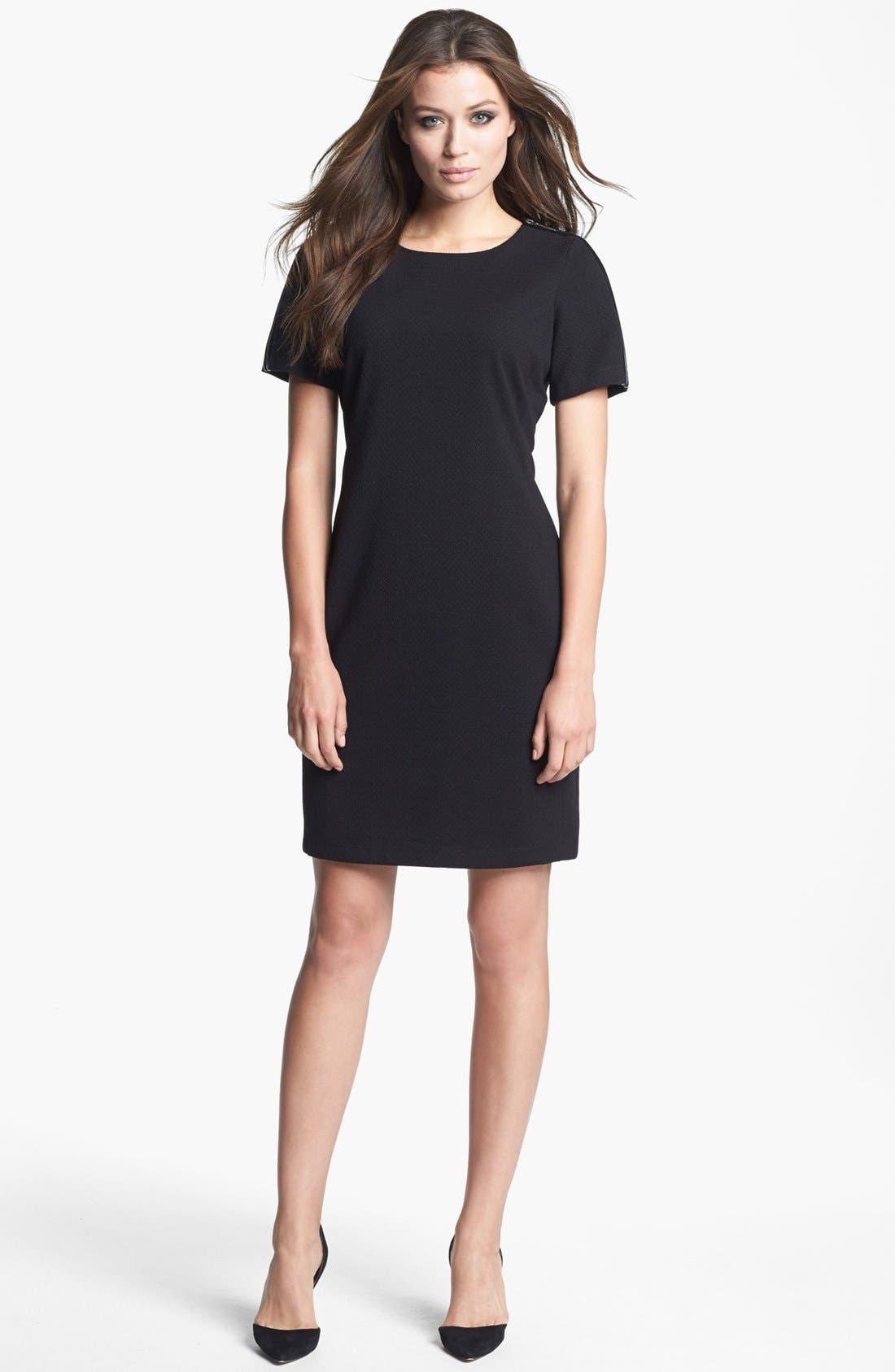 Alternate Image 3  - Donna Ricco Zipper Detail Sheath Dress