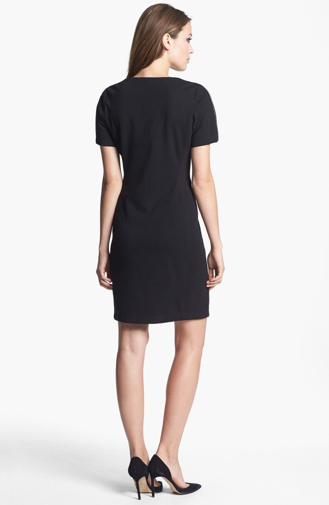 Alternate Image 2  - Donna Ricco Zipper Detail Sheath Dress