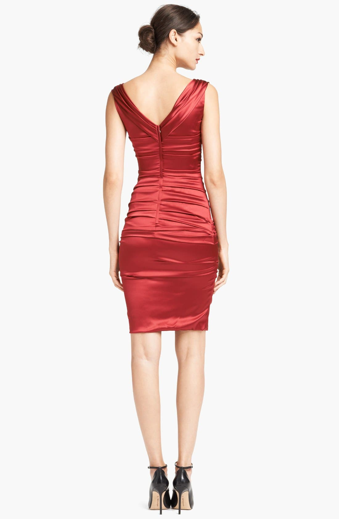 Alternate Image 2  - Dolce&Gabbana Ruched Stretch Satin Dress