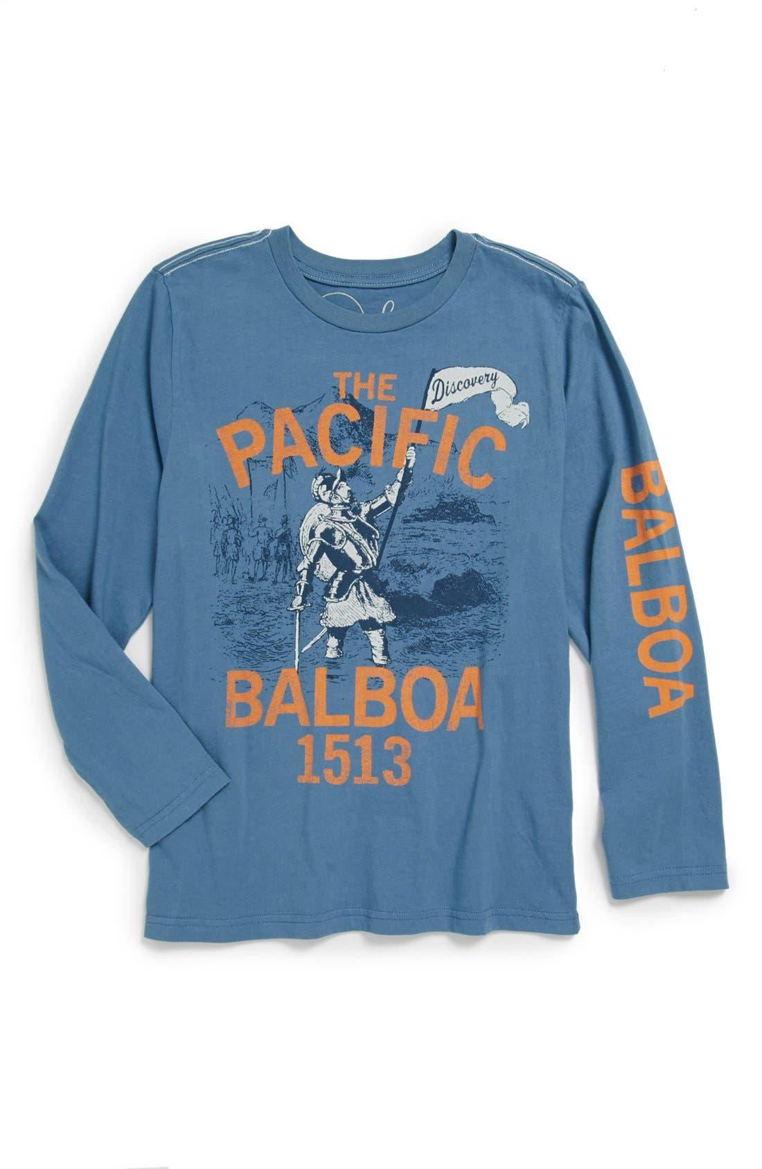 Alternate Image 1 Selected - Peek 'Balboa' Long Sleeve T-Shirt (Toddler Boys, Little Boys & Big Boys)