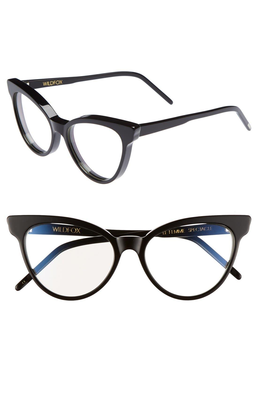 Alternate Image 1 Selected - Wildfox 'La Femme' 54mm Optical Glasses