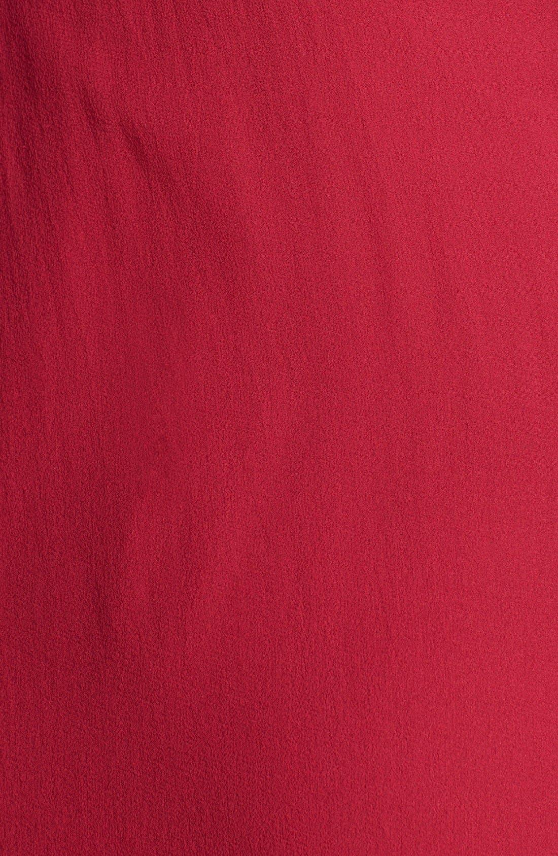 Alternate Image 3  - Aidan Mattox One Shoulder Silk Gown