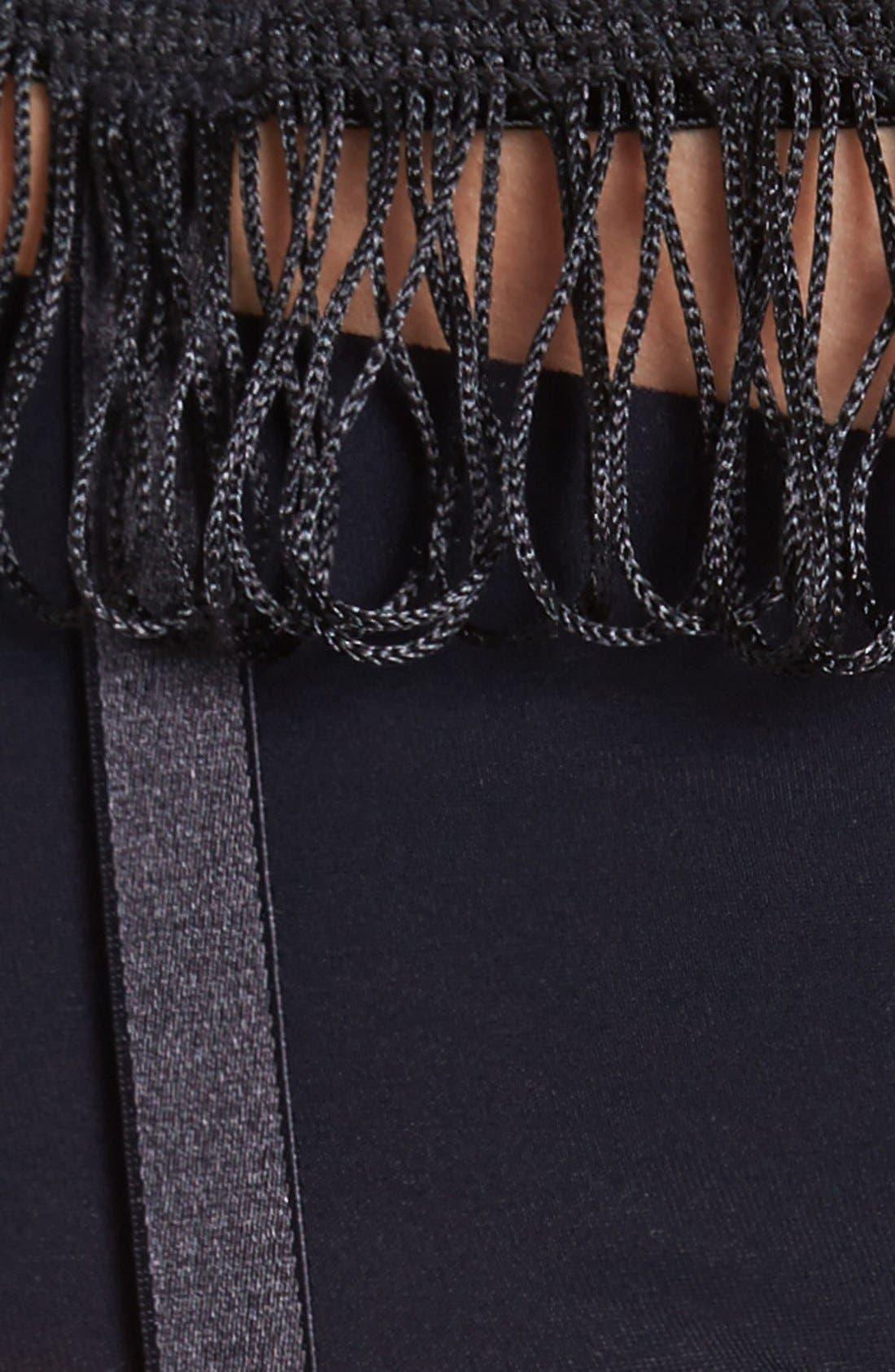 Alternate Image 3  - Hanky Panky 'After Midnight' Fringed Garter Belt