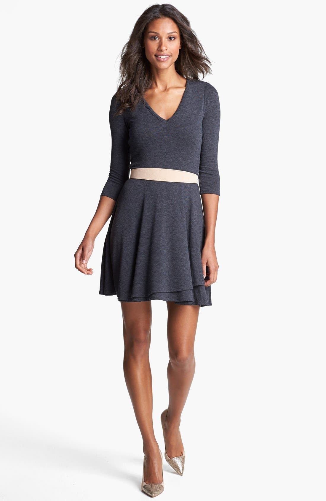 Alternate Image 1 Selected - Three Dots Fit & Flare Sweater Dress