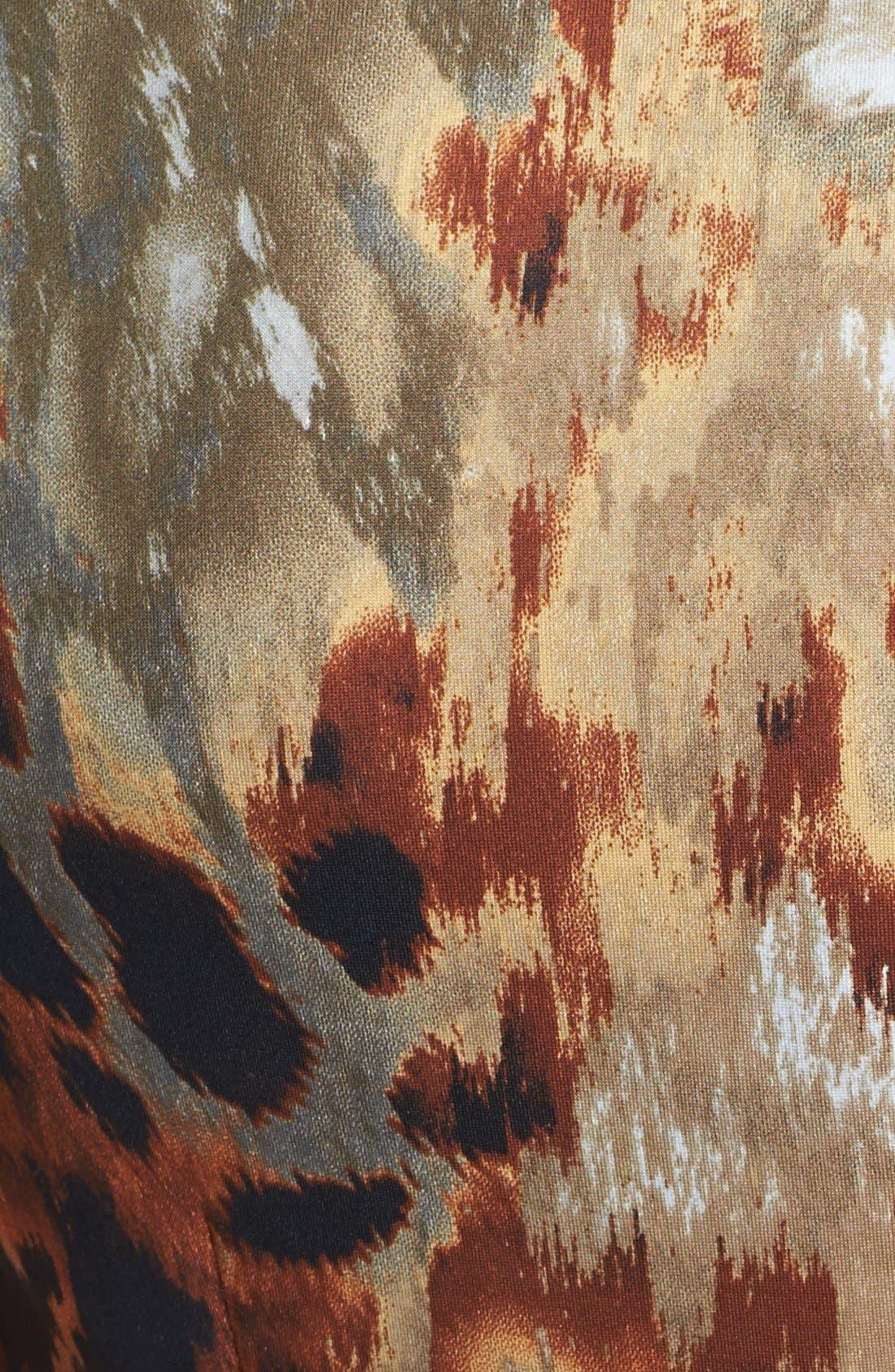 Alternate Image 3  - Ellen Tracy Print Scuba Knit Sheath Dress
