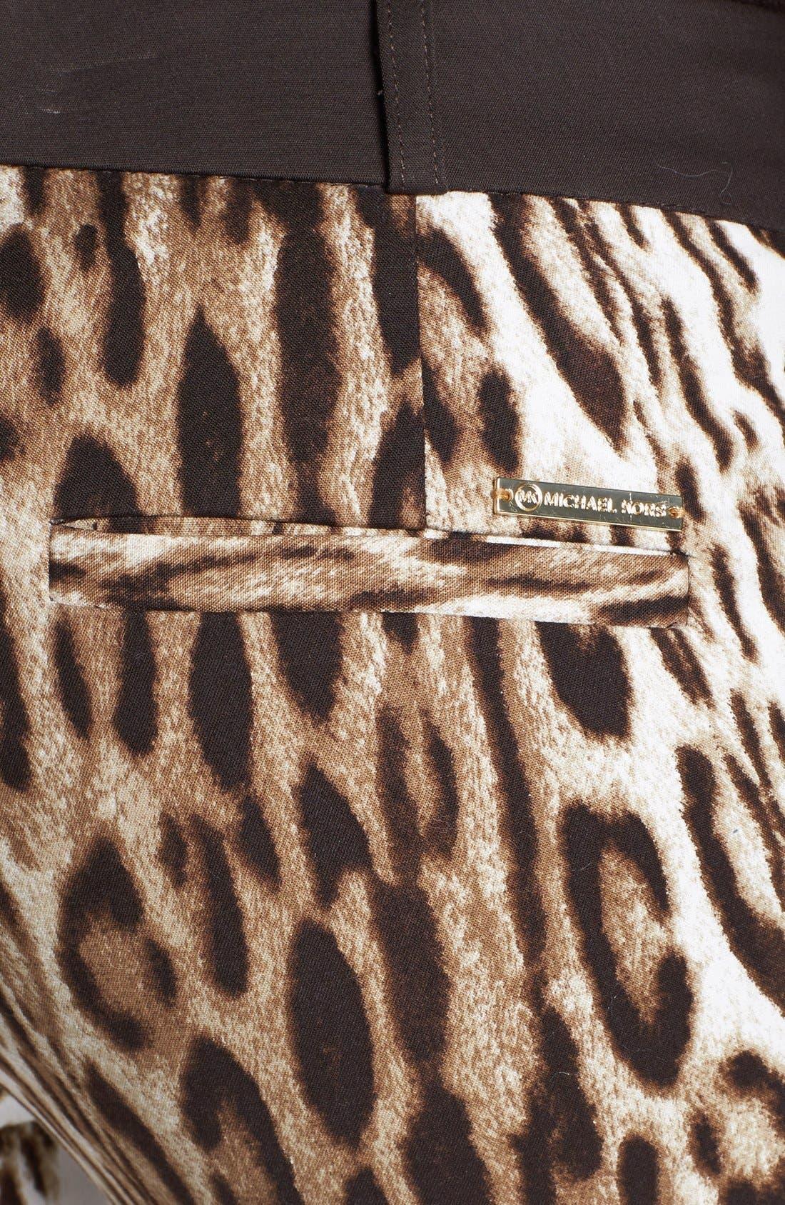 Alternate Image 3  - MICHAEL Michael Kors 'Sexy Skinny' Leopard Print Stretch Pants (Regular & Petite)