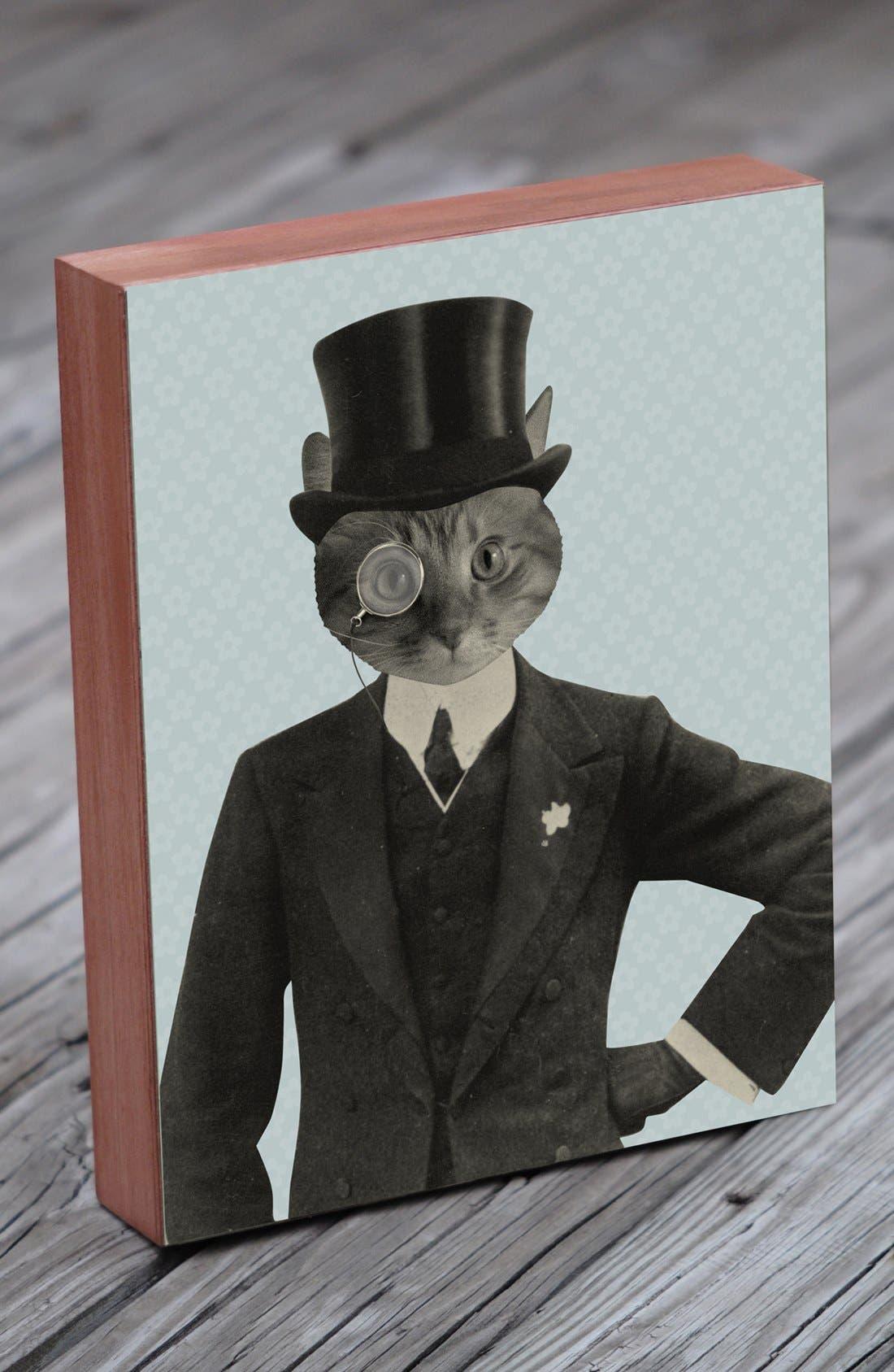 Main Image - Lucius Designs 'Mr. Fancy Cat' Wall Art