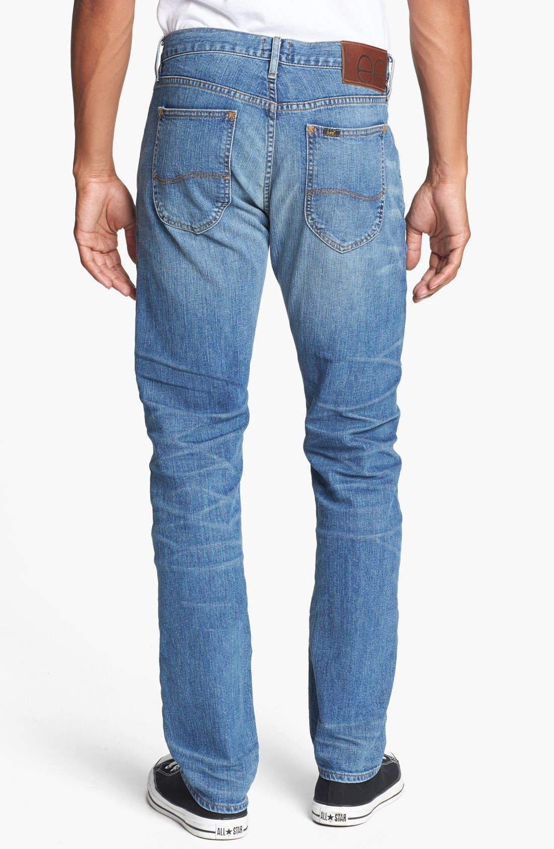 Alternate Image 2  - Lee 101 USA Lean Straight Leg Jeans (Dry Dust)