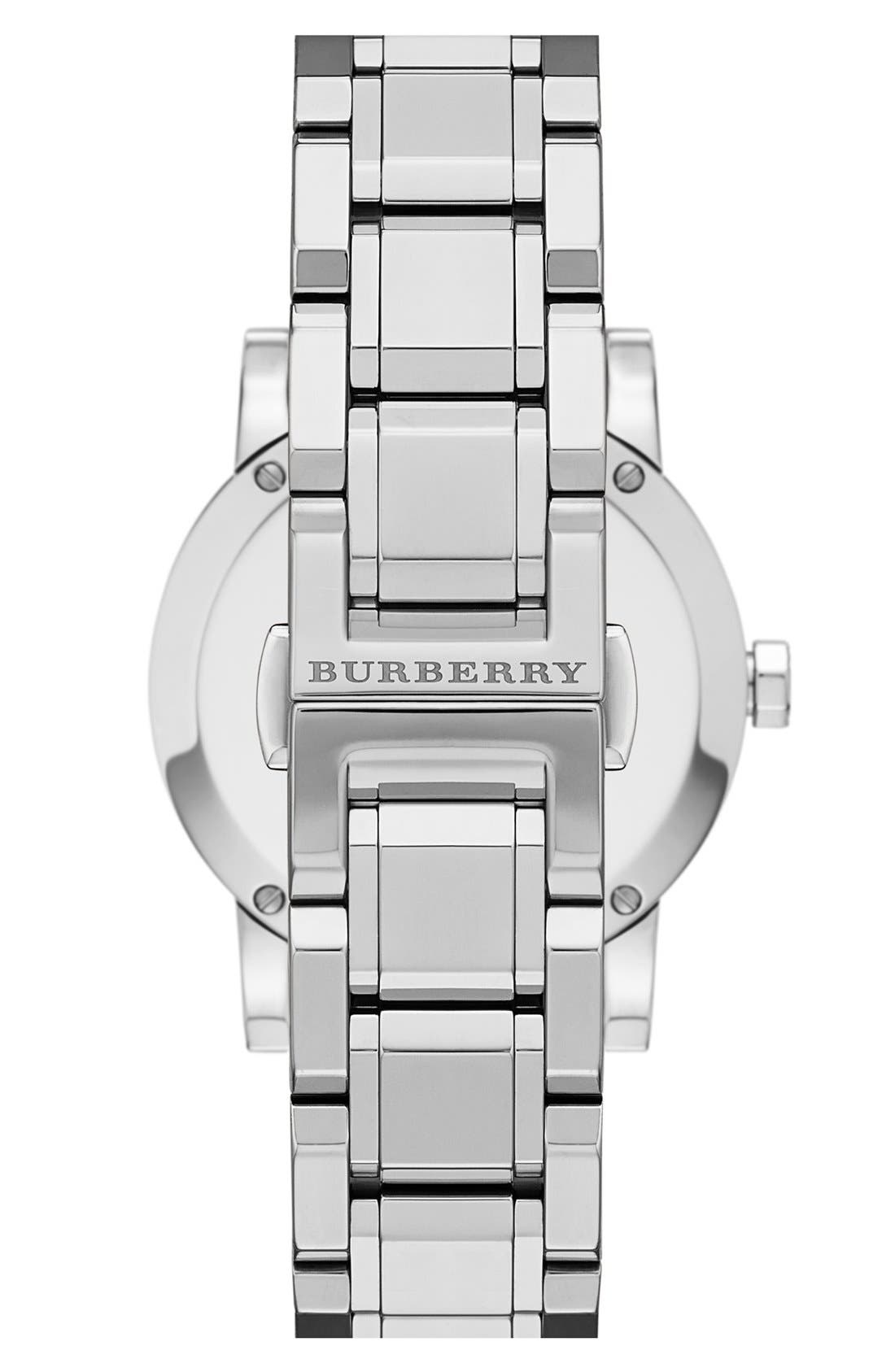 Alternate Image 2  - Burberry Medium Check Stamped Bracelet Watch, 34mm
