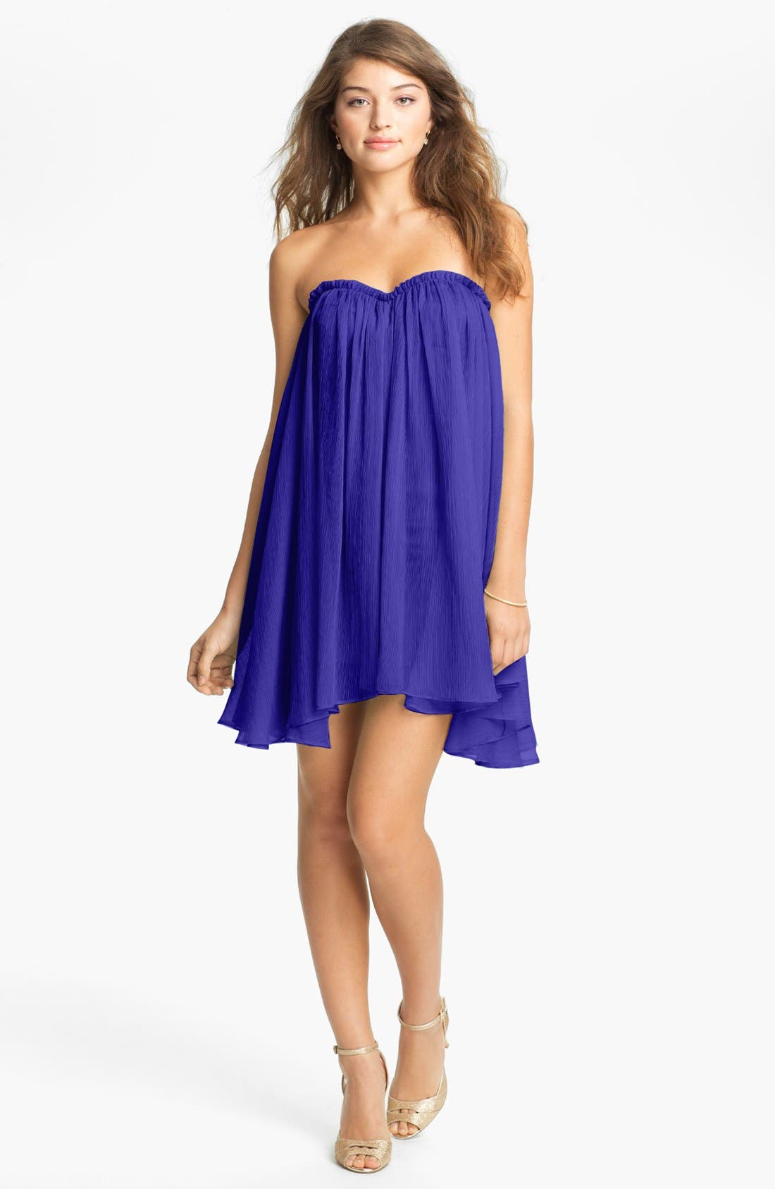 Alternate Image 1 Selected - BLAQUE LABEL Chiffon Babydoll Dress