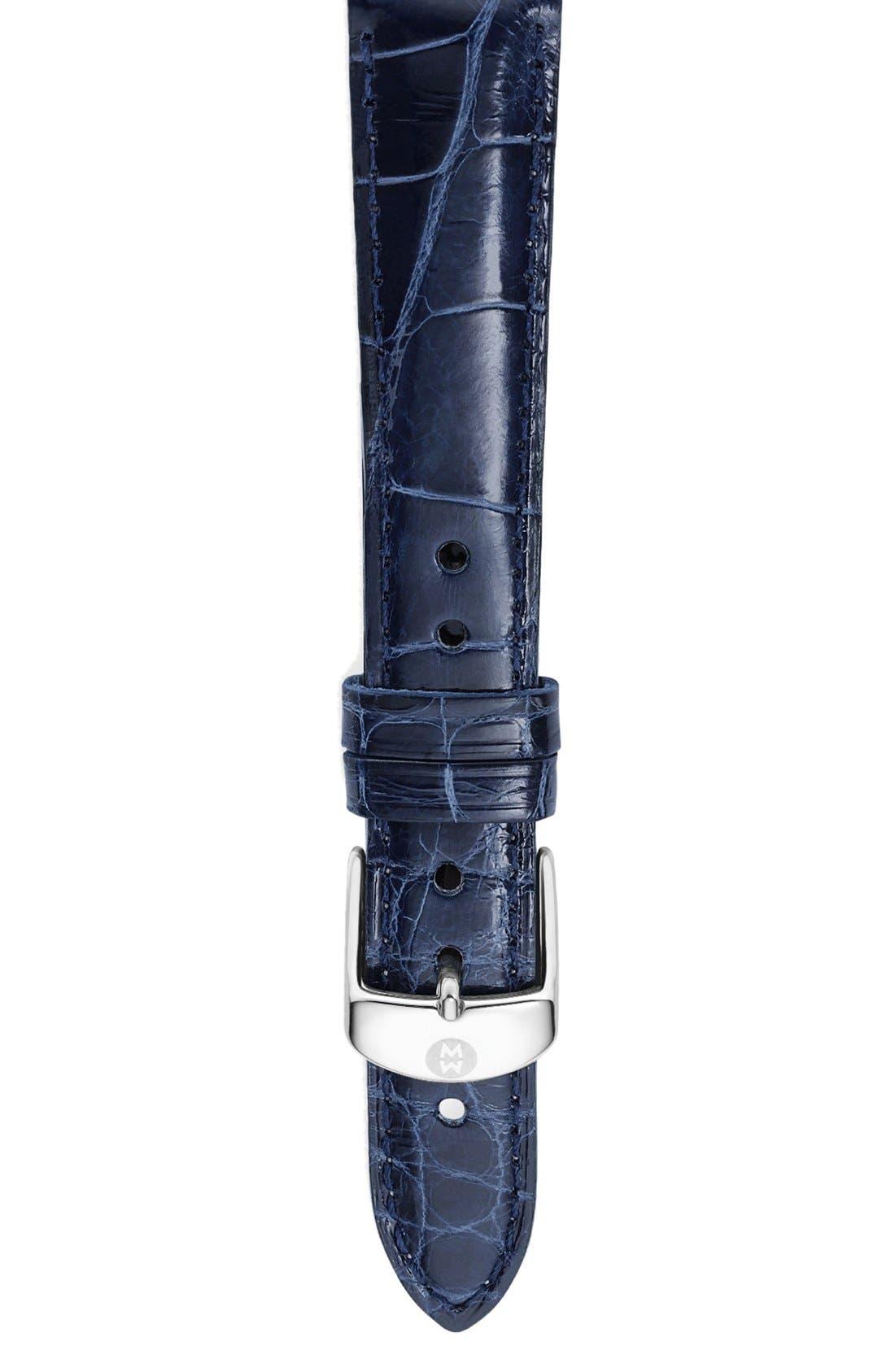 Main Image - MICHELE 16mm Alligator Watch Strap