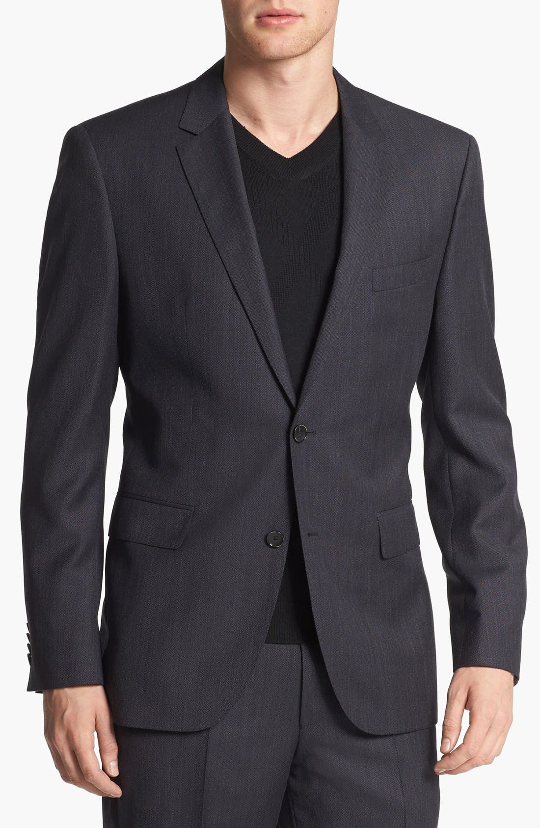 Alternate Image 3  - BOSS HUGO BOSS 'Keys/Shaft' Trim Fit Wool Suit