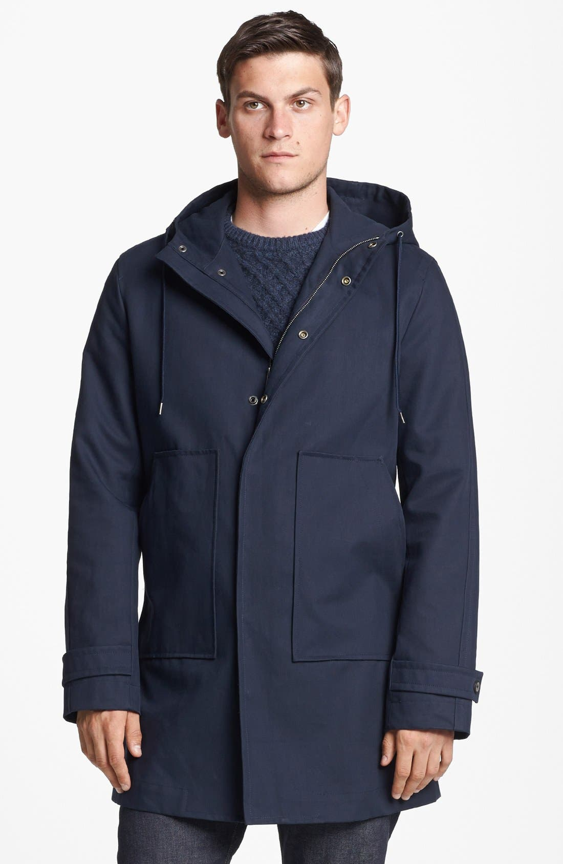 Alternate Image 1 Selected - Vince Water Repellent Hooded Parka