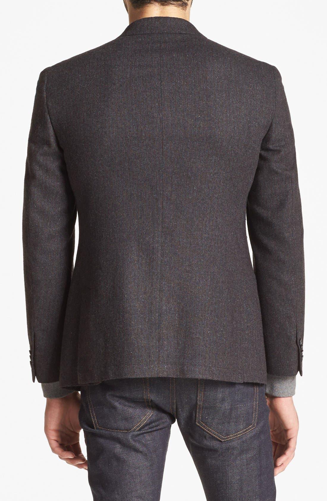 Alternate Image 3  - John Varvatos Star USA Stripe Wool Blend Sportcoat