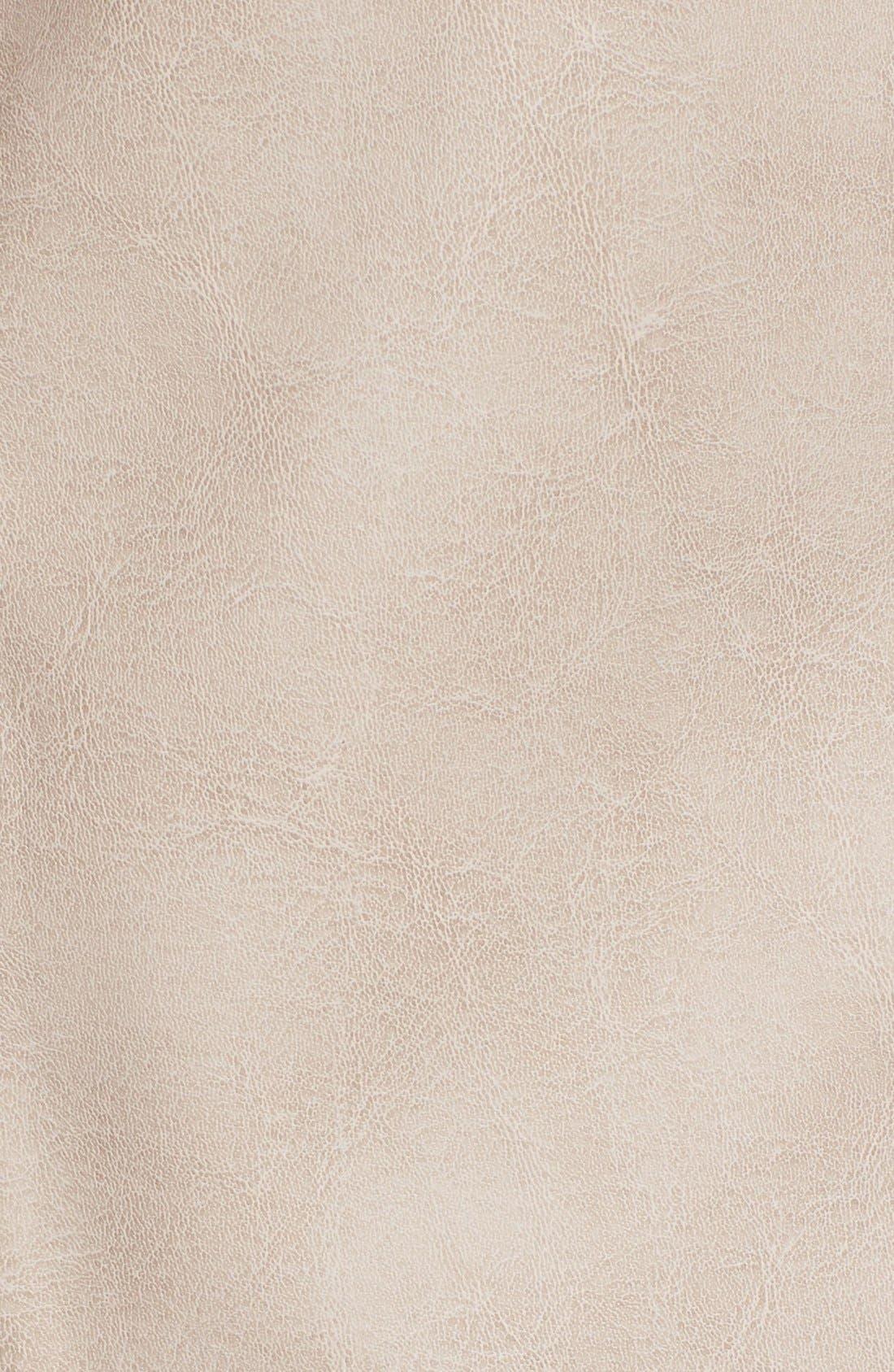 Alternate Image 3  - kensie Faux Leather Top