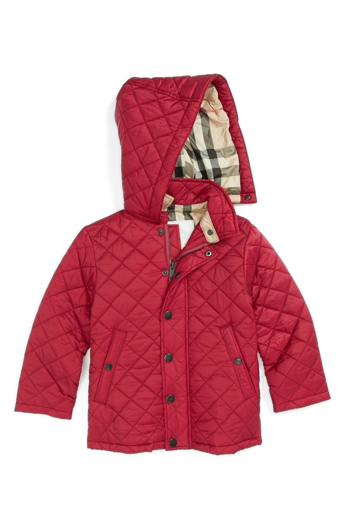 Main Image - Burberry Quilted Coat (Baby Girls)